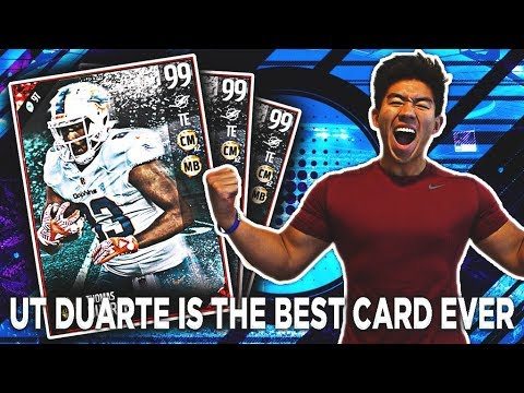 GREATEST CARD IN MADDEN HISTORY! UT THOMAS DUARTE! MADDEN 17 ULTIMATE TEAM(PARODY)