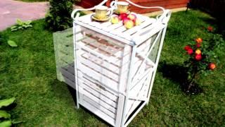 Ящик для хранения овощей, фруктов или садового инвентаря(Деревянные ящики на металлическом каркасе для хранения урожая яблок или даже садового инвентаря. Дерево..., 2015-08-11T13:21:17.000Z)