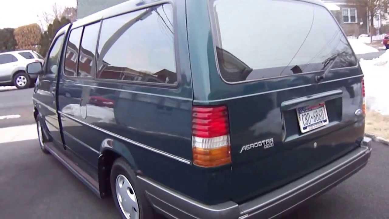 1996 ford aerostar awd 4x4 passenger van green 4 sale youtube. Black Bedroom Furniture Sets. Home Design Ideas