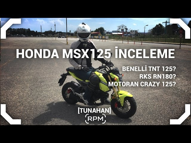 Honda MSX125 İnceleme - Benelli TNT125 VS Grom VS RKS RN180 VS Motoran Crazy [RPM]