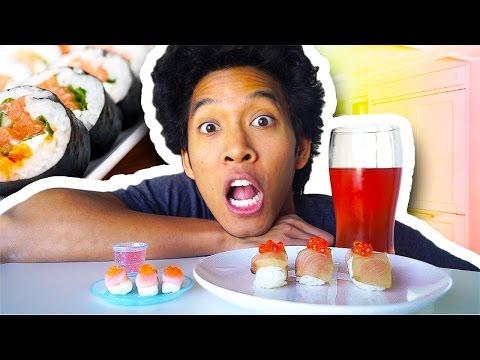 CANDY SUSHI VS. REAL SUSHI!!!