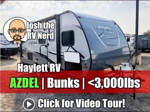 UPDATED 2019 Apex 185BH AZDEL Ultralite Bunkhouse No Slide or Carpet Narrow  Body Coachmen Camper