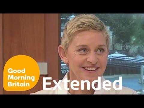 Ellen DeGeneres Extended Finding Dory Interview   Good Morning Britain