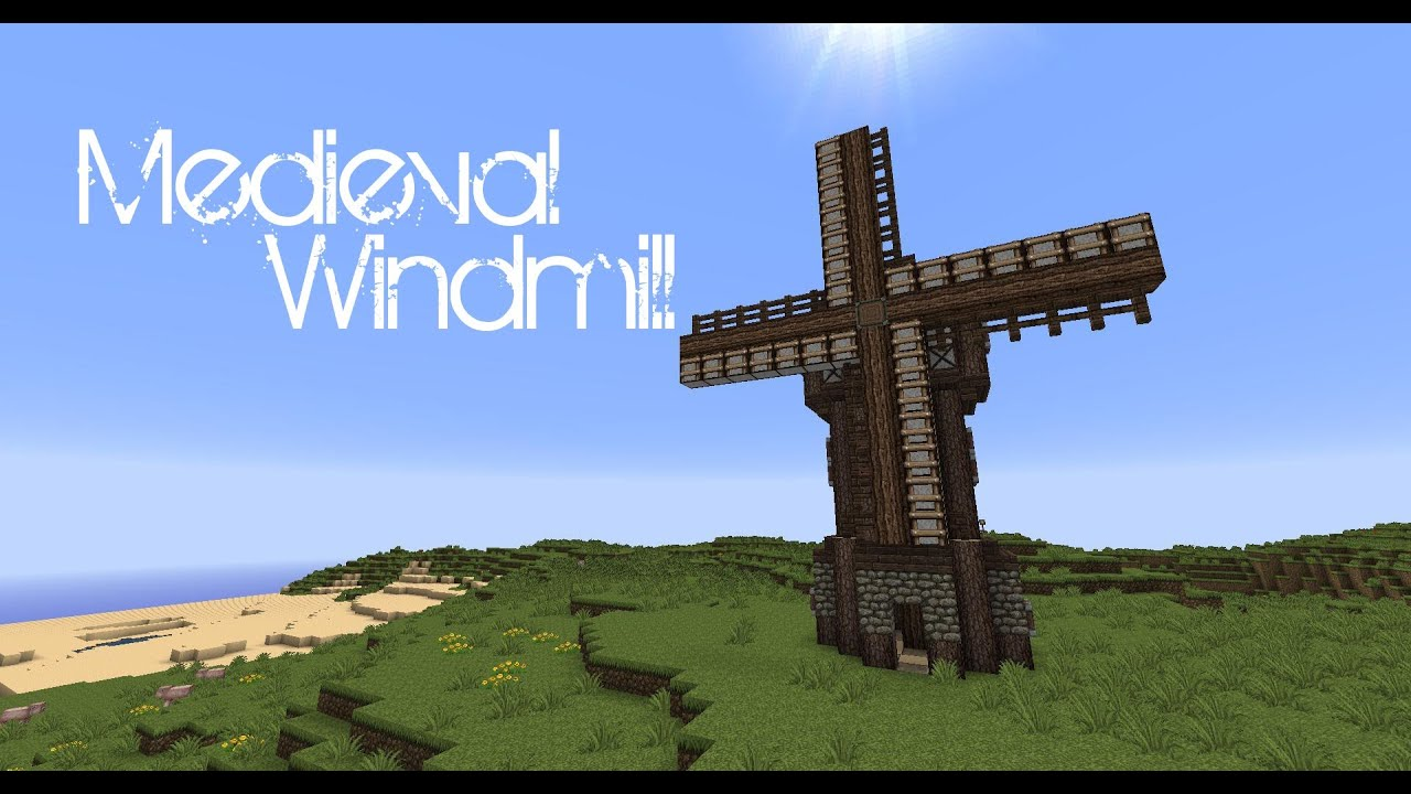 Minecraft - Medieval windmill tutorial - YouTube