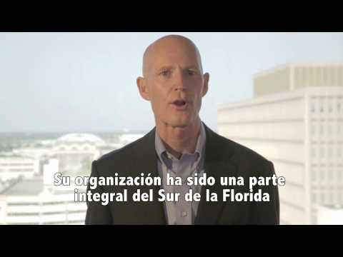 Reconocimiento del Gobernador de la Florida Rick Scott a Business & Community Networker Fundation.