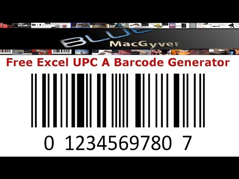 """UPC A"" Barcode Generator In Excel: For FREE!!"