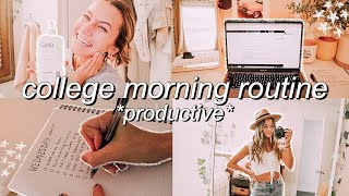 8 A.M. ONLINE COLLEGE MORNING ROUTINE *productive*