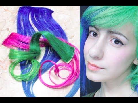 Como pintar extensiones de colores como me pongo - Colores para pintar ...