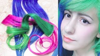 ➭ Como Pintar Extensiones De Colores + Como me pongo extensiones? ❀ - Miranda Ibañez thumbnail