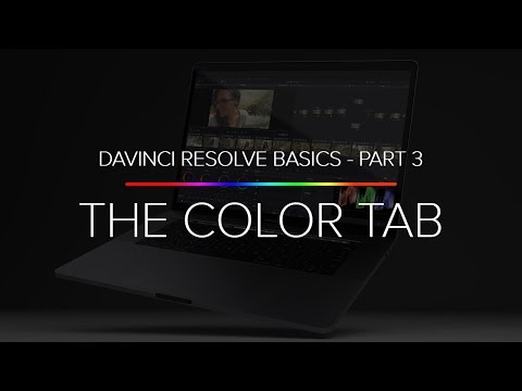 Learn Davinci Resolve 14 Basics - Part 3 (The Color Tab)