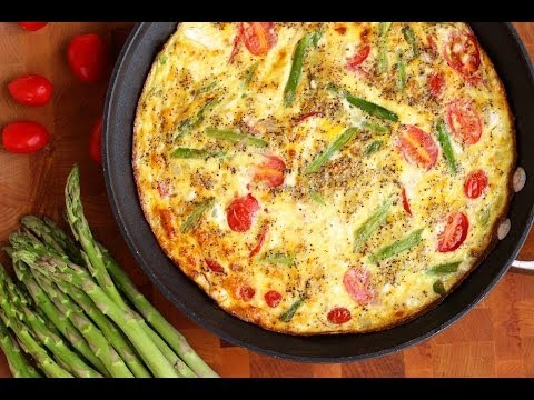 Breakfast Recipe: Asparagus, Cherry Tomato & Feta Frittata by Everyday Gourmet with Blakely