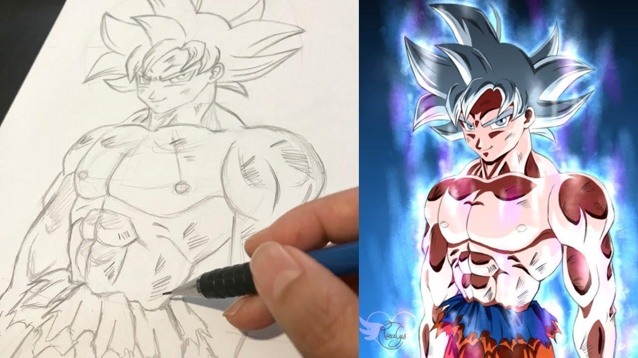 Coloriage Famille Vegeta.Dessin Crayon Papier Son Goku Ultra Instinct Dragonball Super Tuto Comment Je Dessine Manga Facile