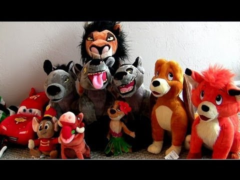 Disneystore lion king hyenas plush with fox and the hound cars2 toys timon pumba youtube - Peluche rouky ...