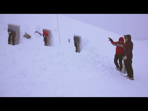 Blizzard survival: Snow holing in Scotland - BBC Travel Show