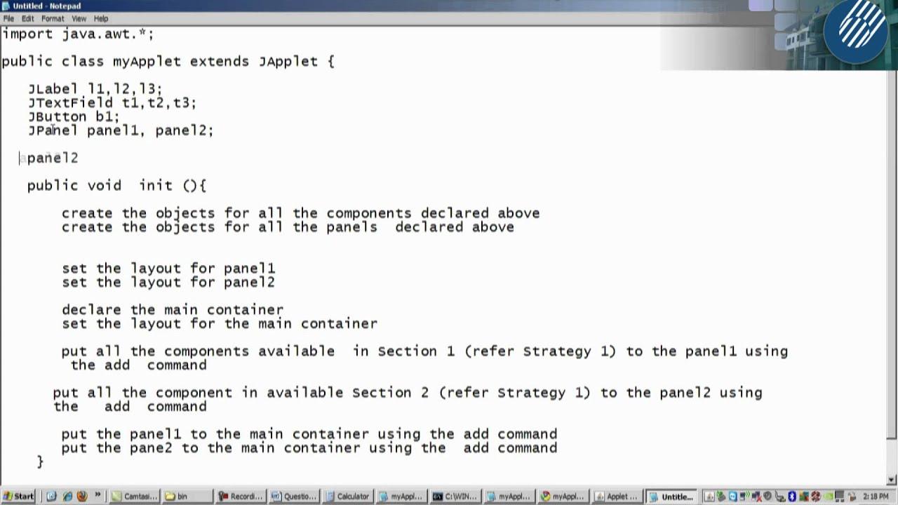 Java tutorial applet choice image any tutorial examples t cbop3203 tutorial 4 applet gui part 5 youtube t cbop3203 tutorial 4 applet gui part baditri Choice Image