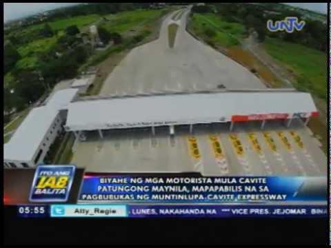 Biyaheng Cavite - Manila, mapapabilis na dahil sa Muntinlupa-Cavite Expressway