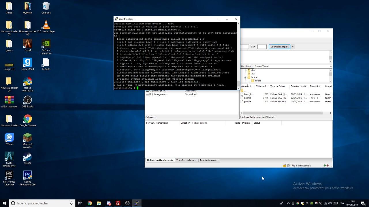 Comment Crée son serveur fivem Sous Linux / Vps / Dedier / Ubuntu / Debian  En 2019
