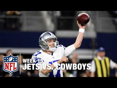 Kellen Moore Throws INT on 2nd-Career Pass Attempt | Jets vs. Cowboys | NFL