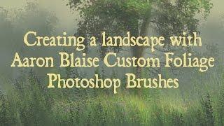 Photoshop Tutorial Custom Foliage Brushes