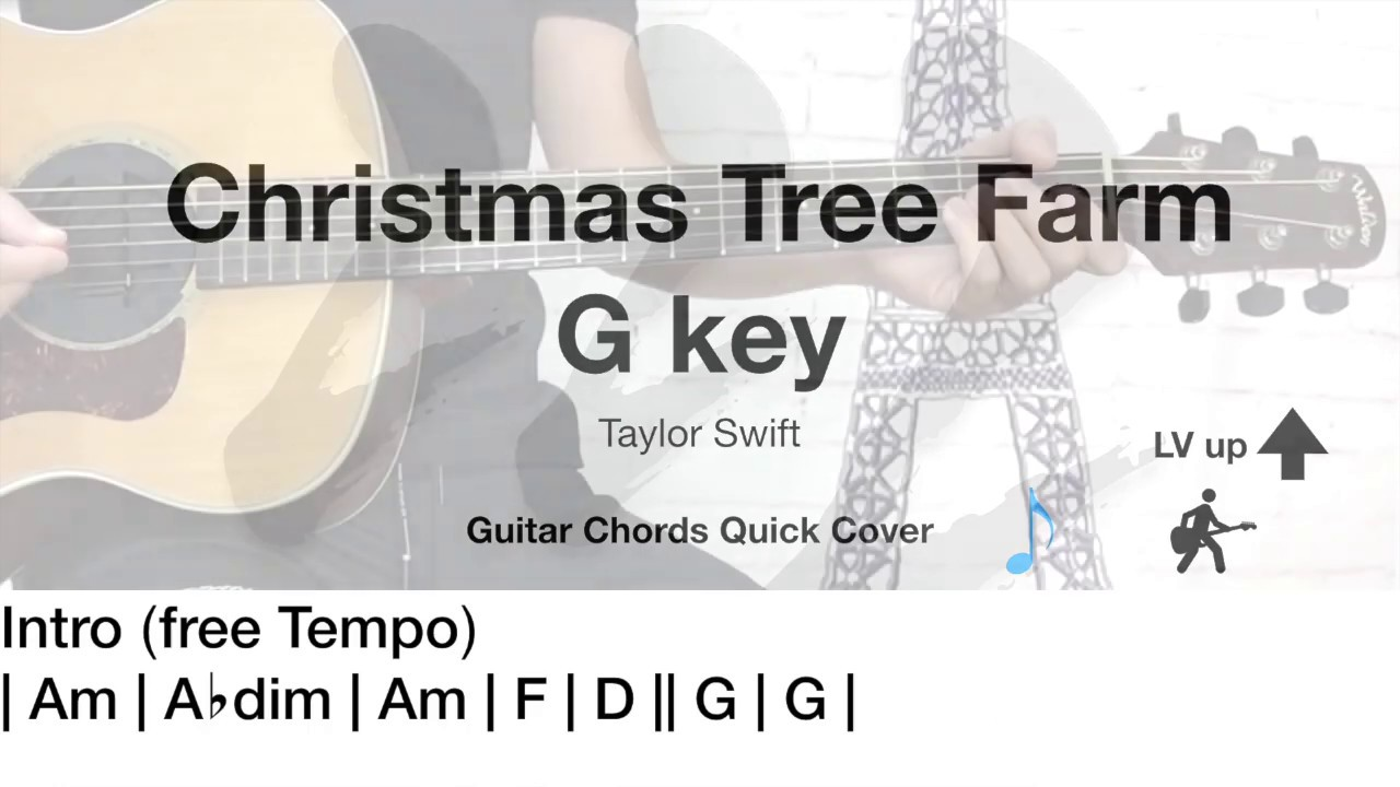 Christmas Tree Farm - Taylor Swift - Guitar Chords Quick Cover #1 - YouTube
