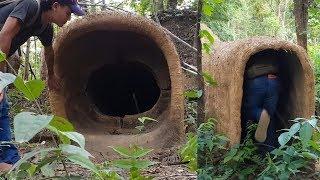 Primitive times: Underground Hut and On The Ground Hut in Rain Season