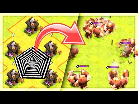 PENTAGON of DOOM Troll Base! Funny Moments in Clash of Clans - Anniversary Update!