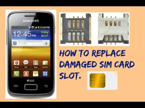 How to replace damaged sim card slot. Samsung Champ Deluxe GT-C 3312