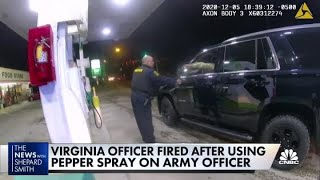 Virginia officer fired after using pepper spray on Army officer