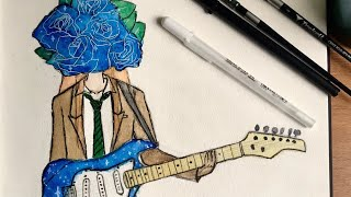 Watercolor - Blue Nino Fukumenkei Noise