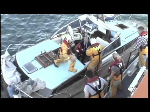 RNLI Saves Sinking Fairey Swordsman In Channel