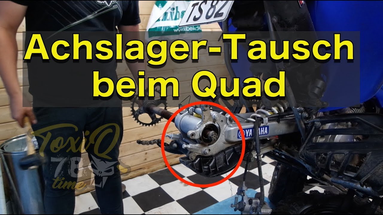 achslager tausch beim quad toxiqtime youtube. Black Bedroom Furniture Sets. Home Design Ideas