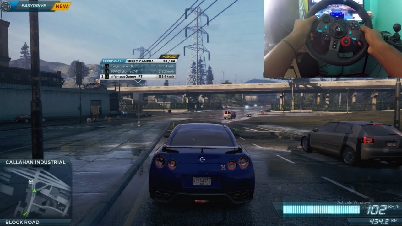 Crusing On Need For Speed Most Wanted 2012 W Logitech G29