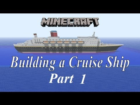 Minecraft Building A Cruise Ship Tutorial Part 1 - YouTube