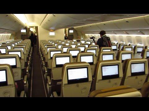 CABIN TOUR Swiss Boeing 777-300ER - Economy, Business and First Class [Full HD]