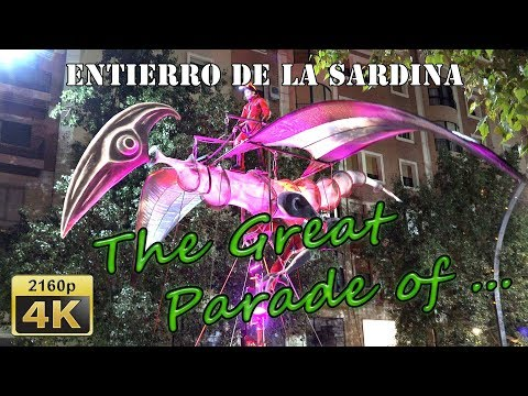Great Burial Parade of the Sardine in Murcia, 2018 - Spain 4K Travel Channel