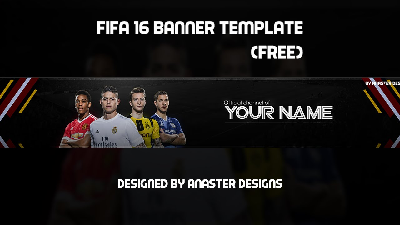 fifa 17 youtube banner free youtube template 2016. Black Bedroom Furniture Sets. Home Design Ideas