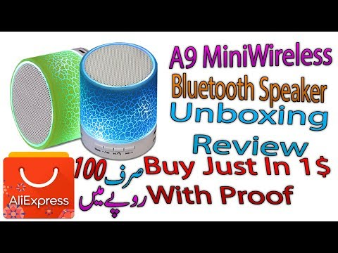 A9 Mini Wireless Bluetooth Speaker Unboxing & Review