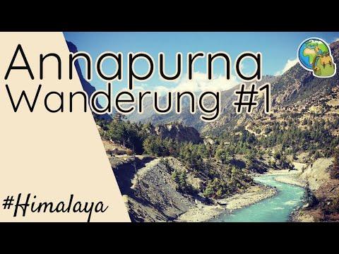 Wandern im Himalaya : Teil 1 der Annapurna Umrundung  ⦿ Weltreise Vlog #6