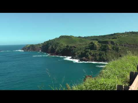 scenic HD 1080p view of northwest Maui, Hawaii coast east of Honokohau Bay