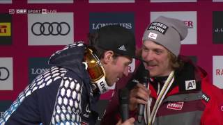 Repeat youtube video Felix Neureuther crasht Pressekonferenz mit Manuel Feller am 19.02.2017 in St. Moritz
