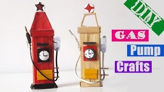 Easy Popsicle Stick Crafts for Kids | DIY Gas Pump Ice Cream Stick 2017