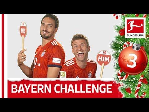 Mats Hummels vs. Thomas Müller - Me or Him Challenge   Bundesliga 2018 Advent Calendar 3