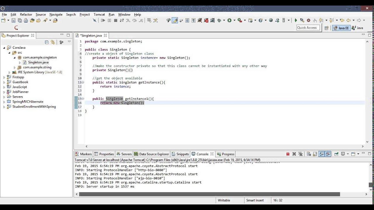 Singleton Design Pattern In Java Amazing Design Ideas