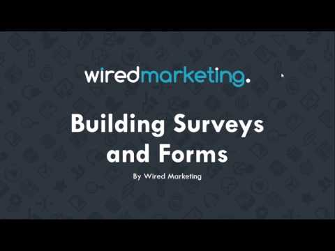 Building surveys and forms | Wired Marketing