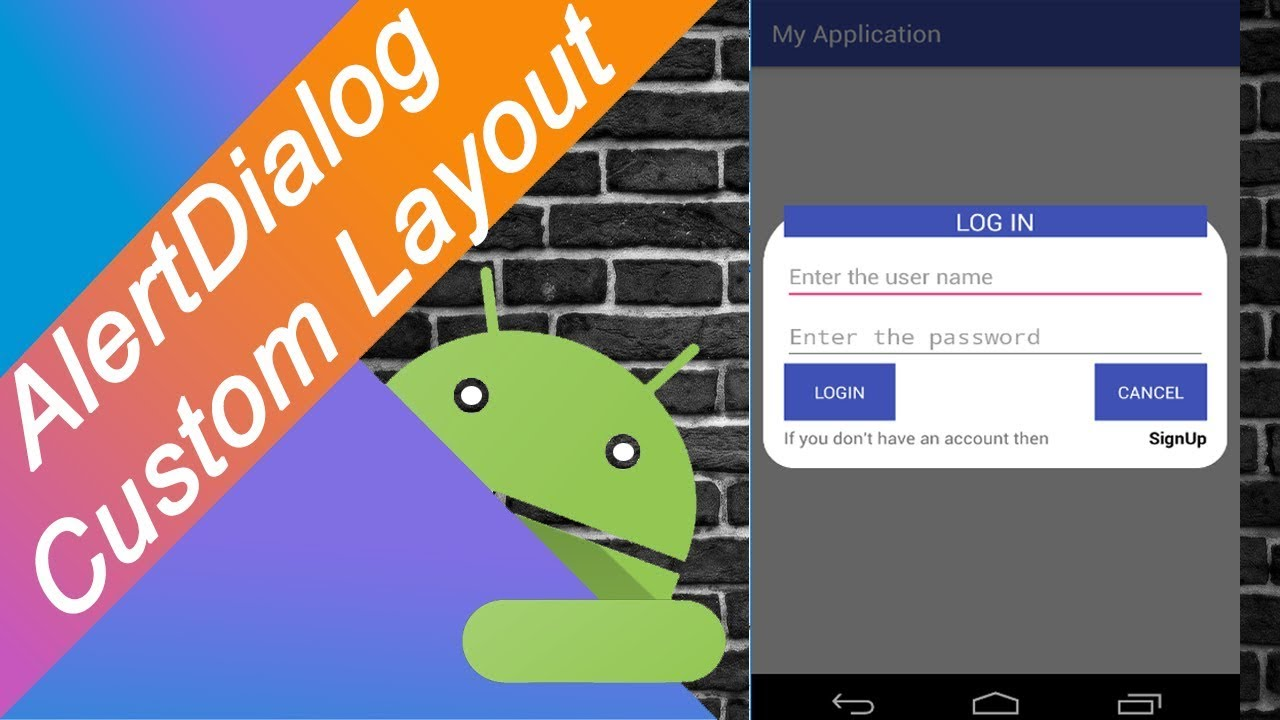 AlertDialog with Custom Layout in Android(kotlin)