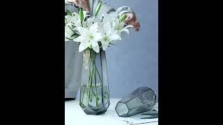 예쁜 꽃병 홈 거실 장식 유리 화병 식탁 모던 북유럽