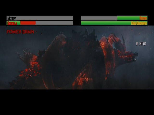 Godzilla v King Ghidorah...with healthbars (Part 2)