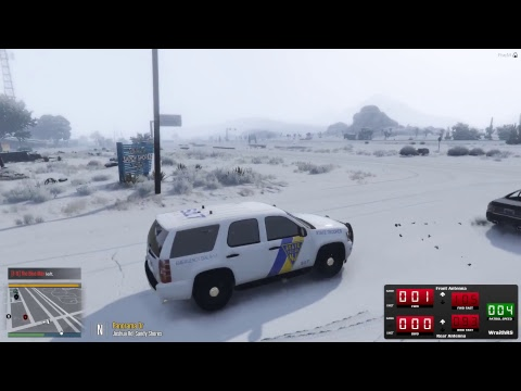 GTA FiveM - NJSP RP (Police Roleplay) EP #7 (Christmas Patro
