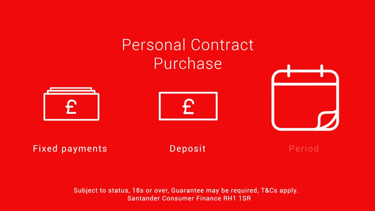 High Quality Santander Consumer Finance Personal Contract Purchase