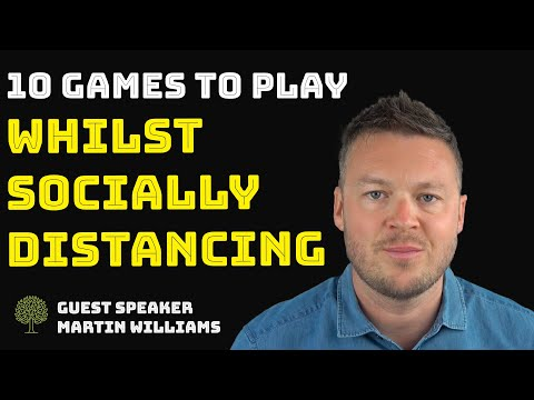 😀 10 Children's Games To Play Whilst Socially Distancing | Guest Martin Williams
